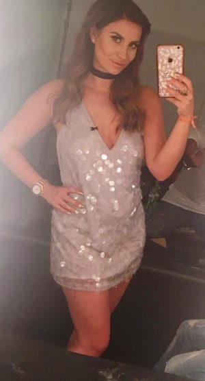 ferne motel grey sequin dress