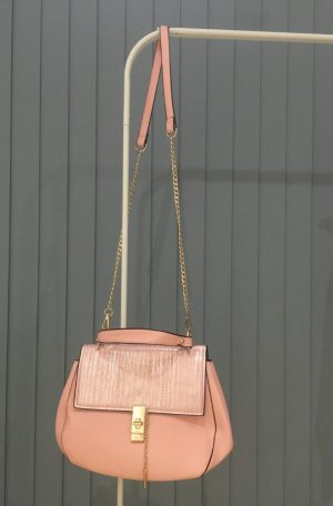 Pink over the shoulder bag