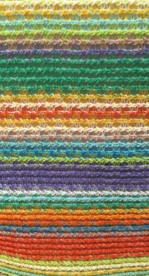 Rainbow dress close up