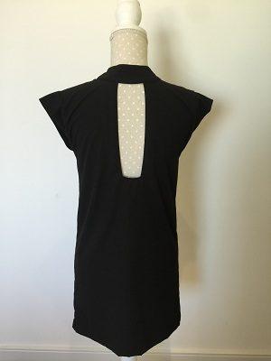 back detail black dress