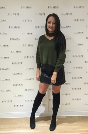 khaki chocker jumper - front
