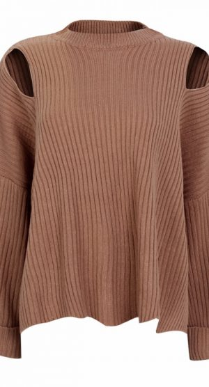 Apricot Oversized Chocker Jumper