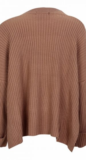 Apricot Oversized Chocker Jumper back