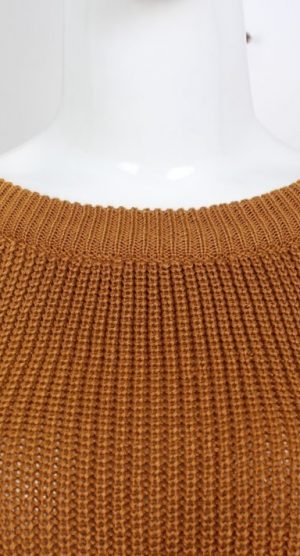 Mustard Lace Up Cropped Jumper top detail